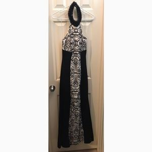 Black & White Formal Gown